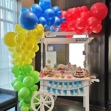 Mario theme candy cart