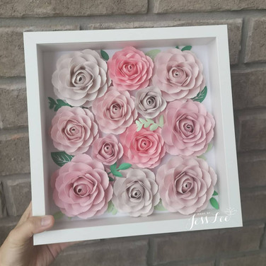 Rose shadow box