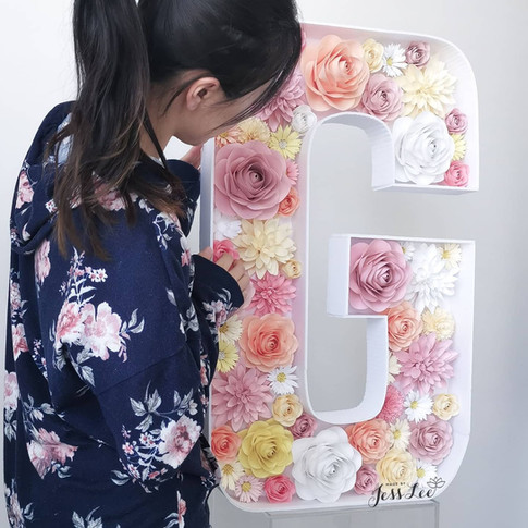 Paper flower mosaic