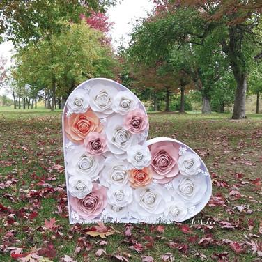 Paper floral heart mosaic