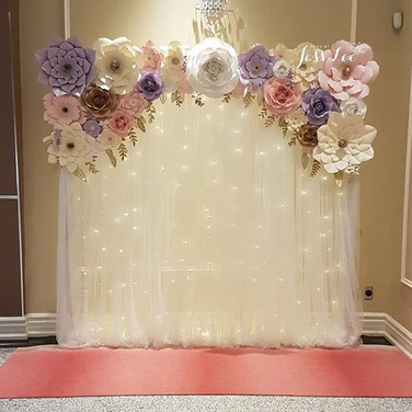 Ava (Pops of Purple) backdrop for a wedding