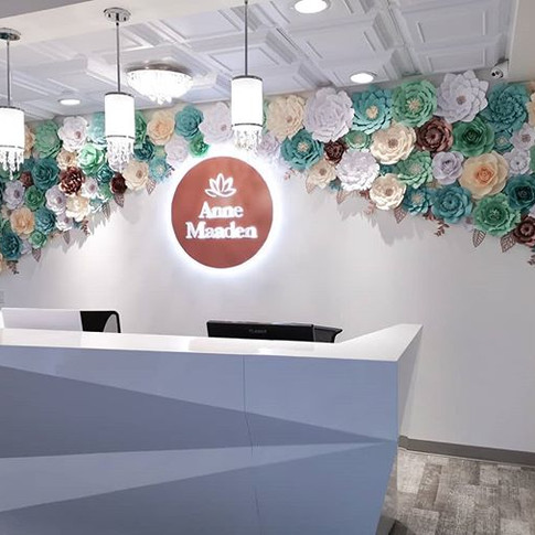 Paper floral wall decor