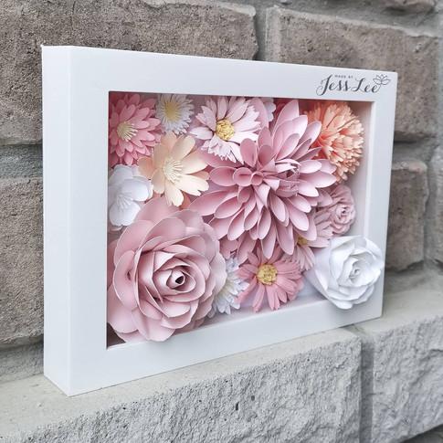 3D paper flower art