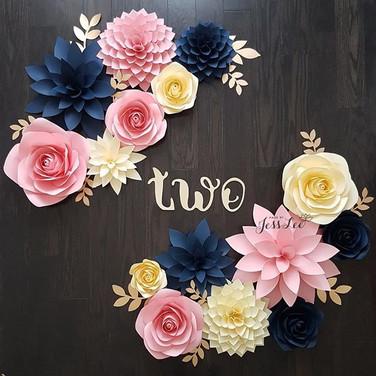 Roses and dahlias
