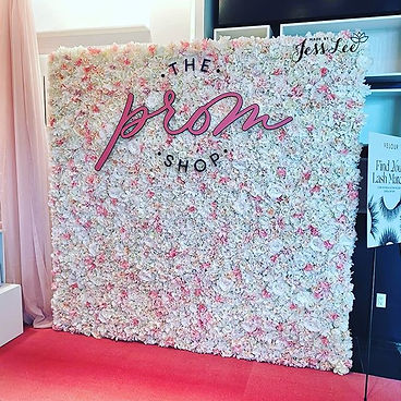 Fairy Blush flower wall for The Prom Sho
