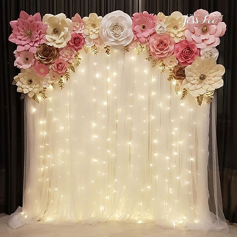 Ava (Pretty in Pink) backdrop with warm