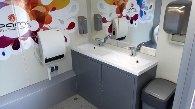 WC mobilne, wnętrze