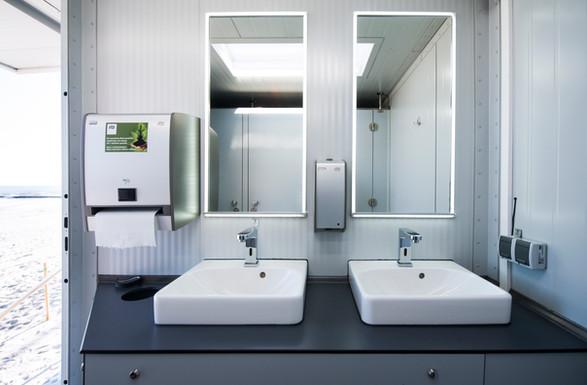 Toaleta mobilna | Wnętrze