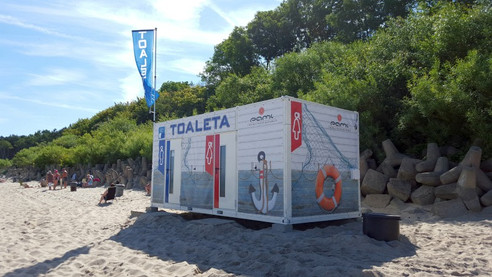 Toaleta mobilna | Plaża