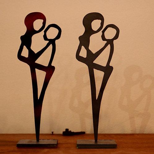 """""""Les amants"""", sculpture sur métal - FRED ZAG"""