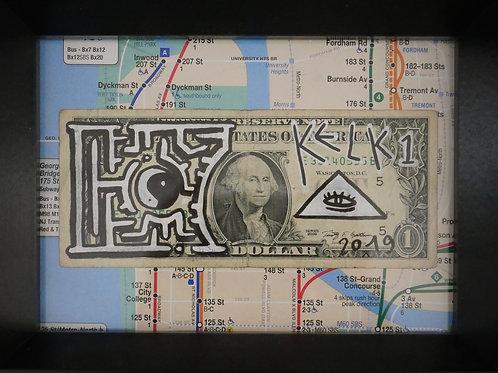 Billet de banque customisé encadré KELKIN