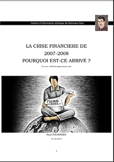 LA CRISE FINANCIERE DE 2007-2008
