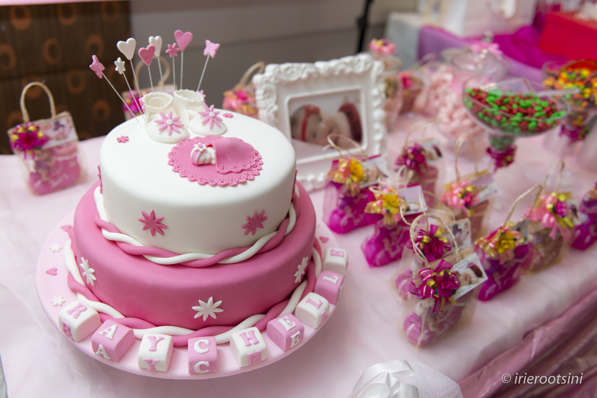 Christening Cake and Giveaways