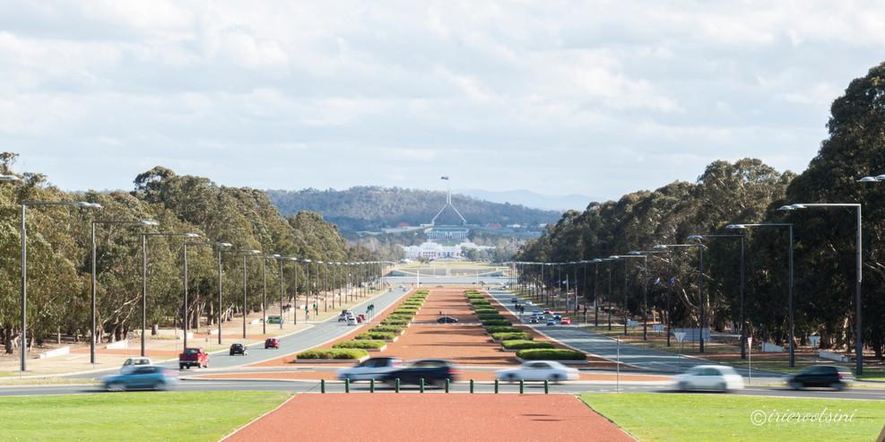 The Parliament House Straight Ahead