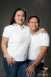 Couples Portrait in Grey Background - Sydney