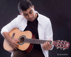 Artist Portrait-Playing Guitar