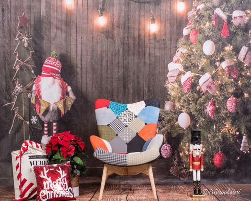 Christmas Backdrop - Christmas Cabin