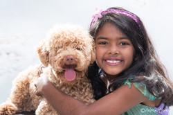 Photographer-Mcgraths-Hill-Studio-Portrait-Girl-Hugging-Dog