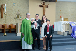 Photo with Priest at St. Patrick's Church