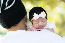 Portrait-Photographer-Sydney-Newborn-Sleeping-Father-Shoulder