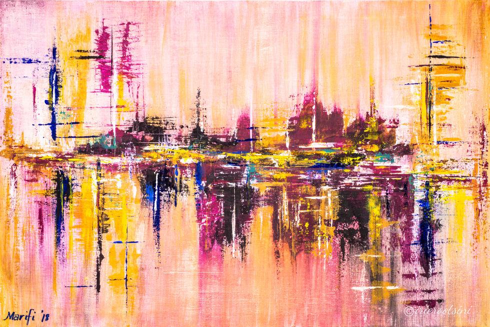 Marifi R Capulong - Painting - Aftermath