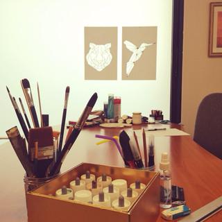 Cabinet d'art-thérapie.