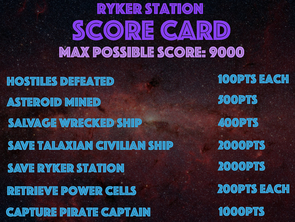 RYKER STATION POSTER, MISSION SEQUENCE A