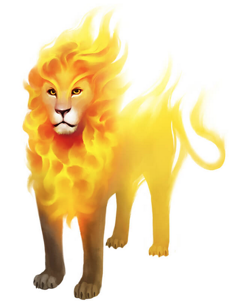 "Trinok ""Goldmane"" Flame Lion"