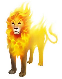 "Trinok ""Goldmane"" Flame Lion"