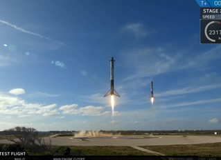Test Flight to Mars: SpaceX Falcon Heavy Rocket Launch