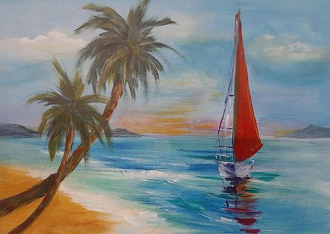 Beach and Yacht at Sunset draft.jpg