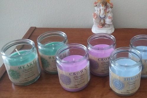 Chakra Soy Blended Candle Package