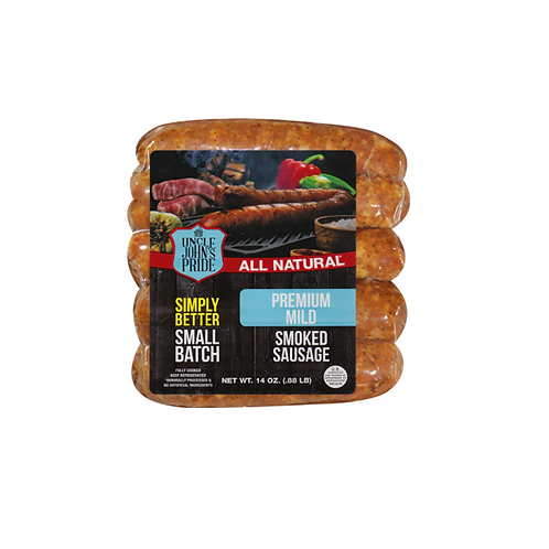 Uncle John's Pride All Natural Mild Smoked Sausage