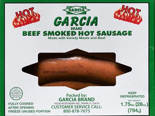Garcia Beef Smoked Sausage - Hot