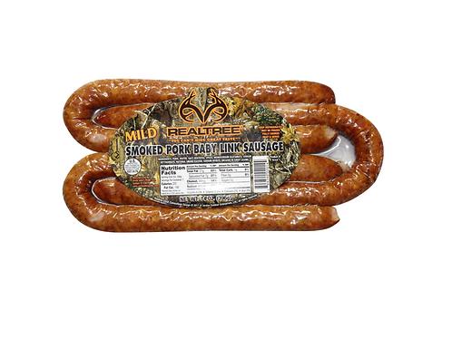 Realtree Mild Smoked Pork Baby Link Sausage