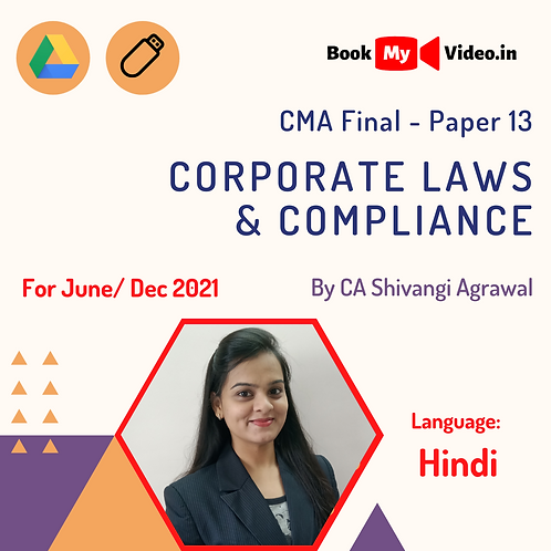 CMA Final - Corporate Laws & Compliance by CA Shivangi Agrawal (In Hindi)