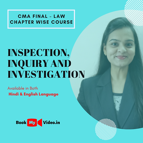 CMA Final Law - Inspection, Inquiry and Investigation