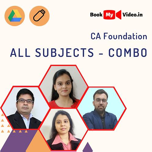 CA Foundation - All Subjects Combo