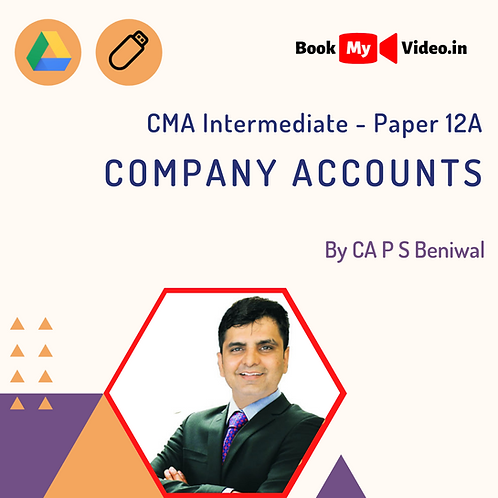 CMA Intermediate - Company Accounts by CA P S Beniwal