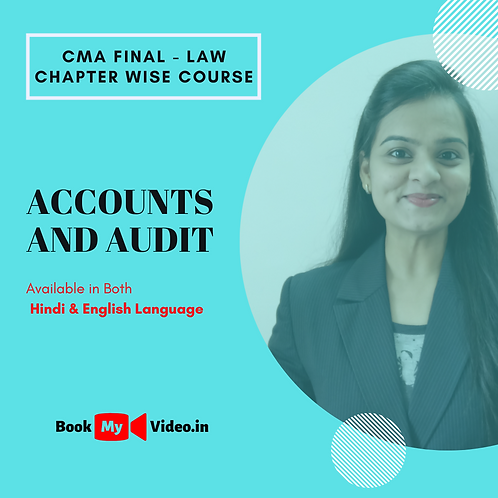 CMA Final Law - Accounts and Audit