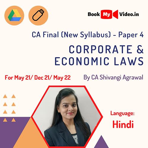 CA Final New Syllabus - Corporate & Economic Laws by CA Shivangi Agrawal (Hindi)