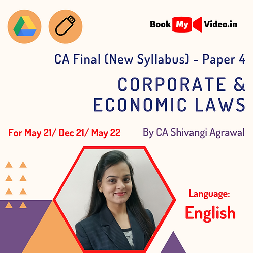 CA Final New - Corporate & Economic Laws by CA Shivangi Agrawal (In English)