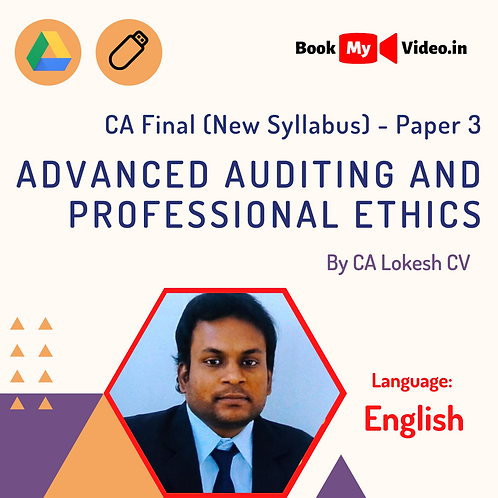 CA Final - Advanced Auditing & Professional Ethics by CA Lokesh CV (In English)