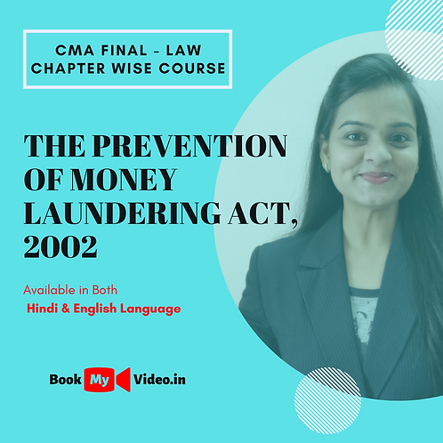 CMA Final Law - The Prevention of Money Laundering Act, 2002