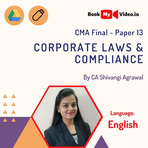 CMA Final - Corporate Laws & Compliance by CA Shivangi Agrawal (In English)