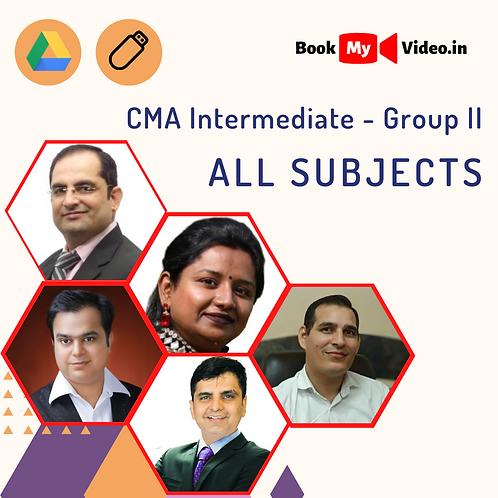 CMA Intermediate - Group II all subjects Combo