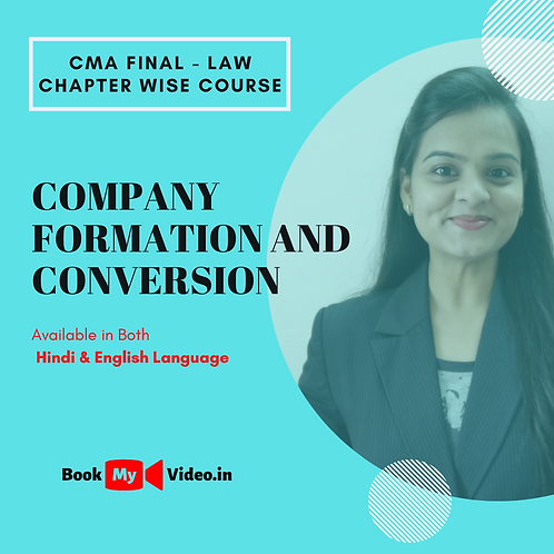 CMA Final Law - Company Formation and Conversion