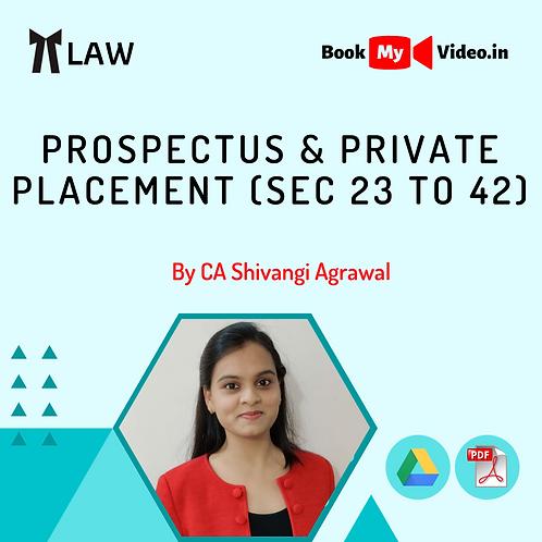 Company Law - Prospectus & Private Placement