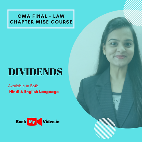 CMA Final Law - Dividends