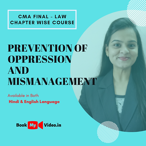 CMA Final Law - Prevention of Oppression and Mis-management